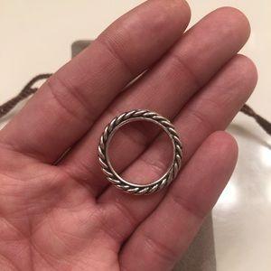 DAVID YURMAN authentic silver ring size 6.5